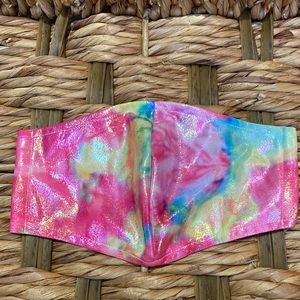Accessories - 2/$20 Reflective Rainbow Tie Dye Adult Face Mask